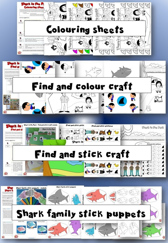 Shark In The Park Activity Pack Mindingkids