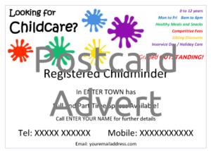 Postcard Advert