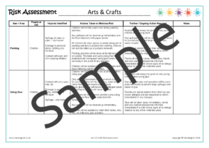 Arts & Crafts Risk Assessment