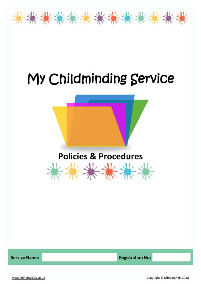 Policies procedures pack mindingkids policies cover maxwellsz