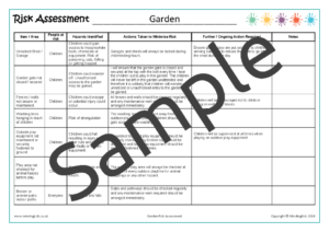 Garden Risk Assessment