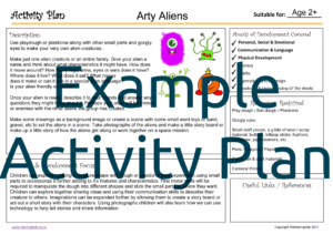 Arty Aliens Activity Plan