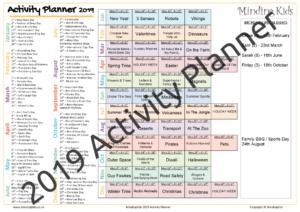 2019 Activity Planner