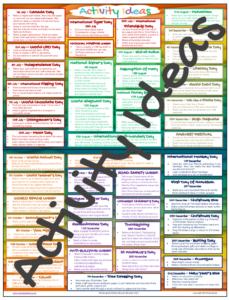 Multicultural Calendar Activities