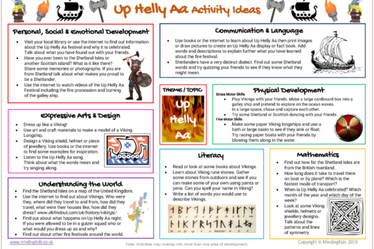 Up Helly Aa Activity Ideas