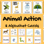 Animal Action & Alphabet Cards