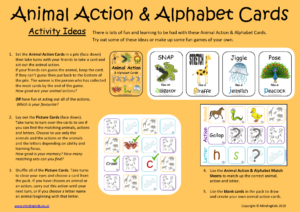 Animal Action & Alphabet Cards