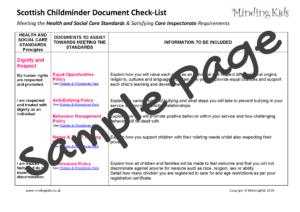 Checklist Sample Page