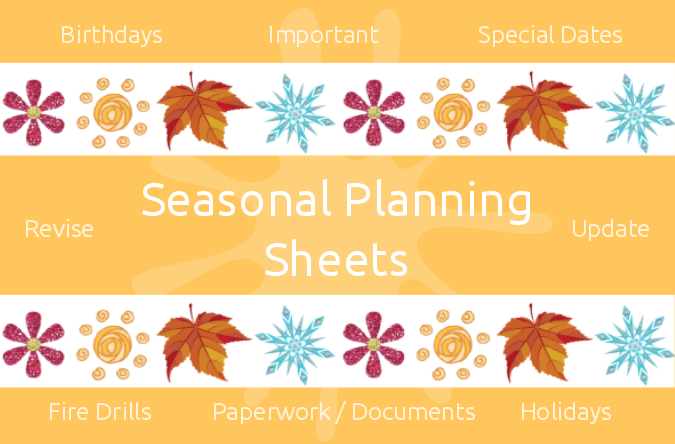 Seasonal Planning Sheets