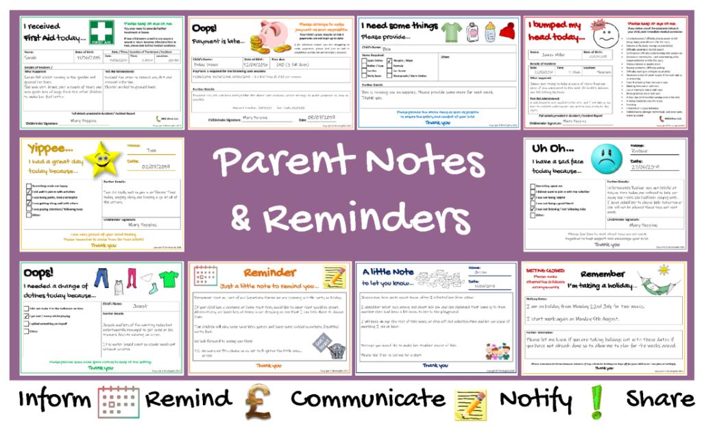Parent Notes & Reminders