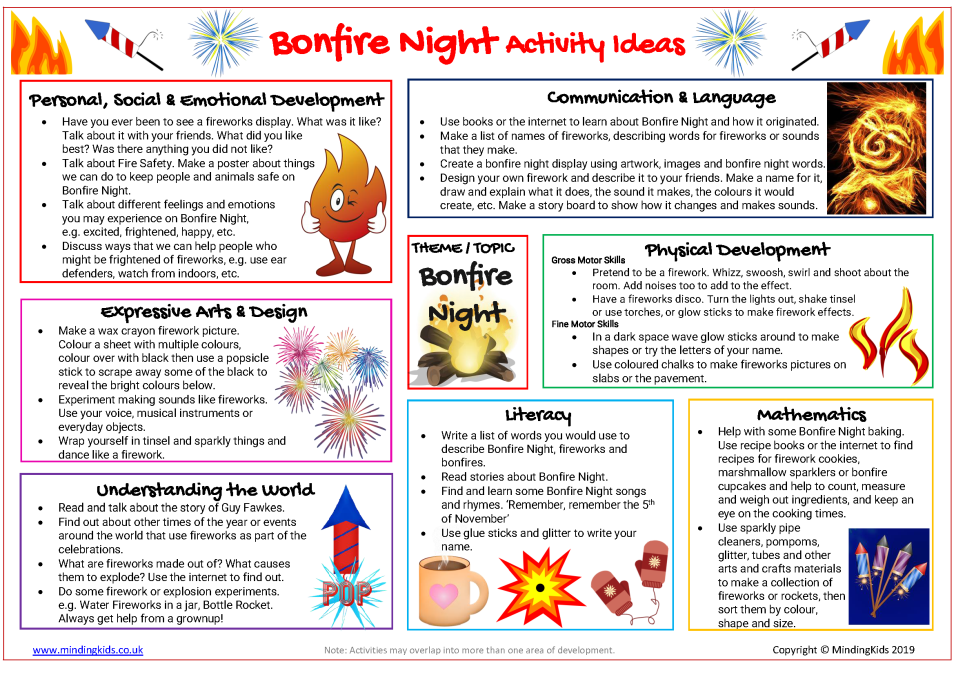 Bonfire Night Activity Ideas
