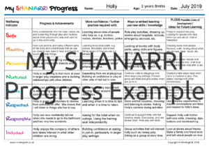 SHANARRI Progress Example