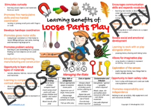 Loose Parts Play Risk / Benefits Poster