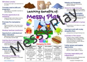 Messy Play Risk / Benefits Poster