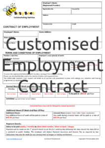 Customised Employment Contract