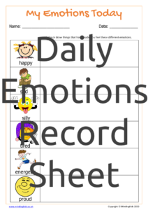 Daily Emotions Record Sheet