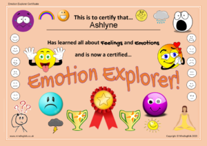 Emotion Explorer Certificate