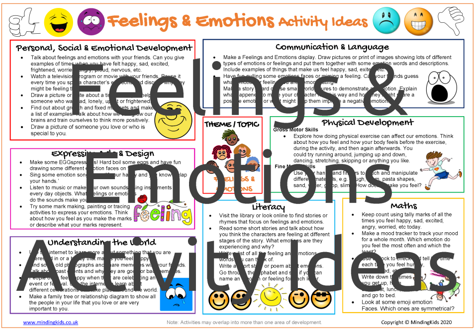 Feelings & Emotions Activity Ideas