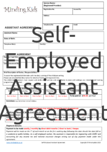 Self-Employed Assistant Agreement