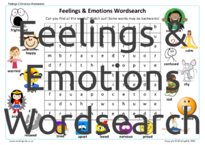 Emotions Wordsearch