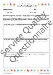 Service Quality Questionnaire