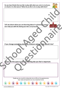 School Aged Questionnaire 2