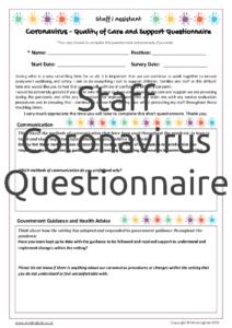 Staff Coronavirus Questionnaire