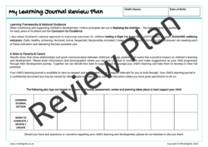 Learning Journal Review Plan