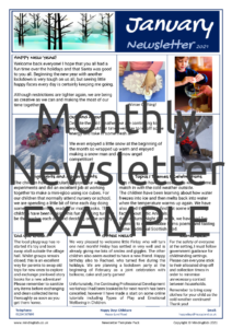 Monthly Newsletter EXAMPLE