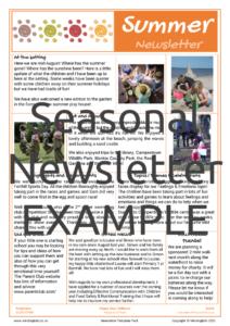 Seasonal Newsletter EXAMPLE