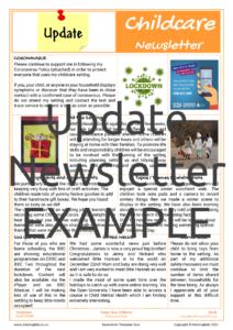 Update Newsletter EXAMPLE