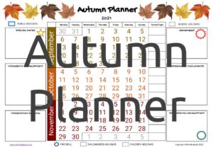 Autumn Planner 2021
