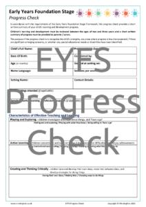 EYFS Progress Check
