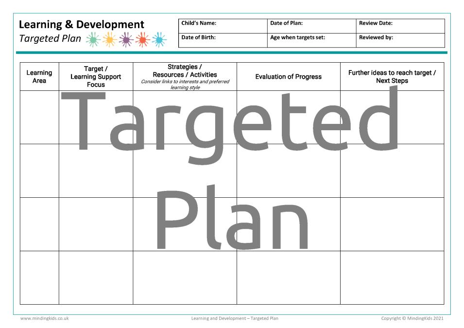 Targeted Plan