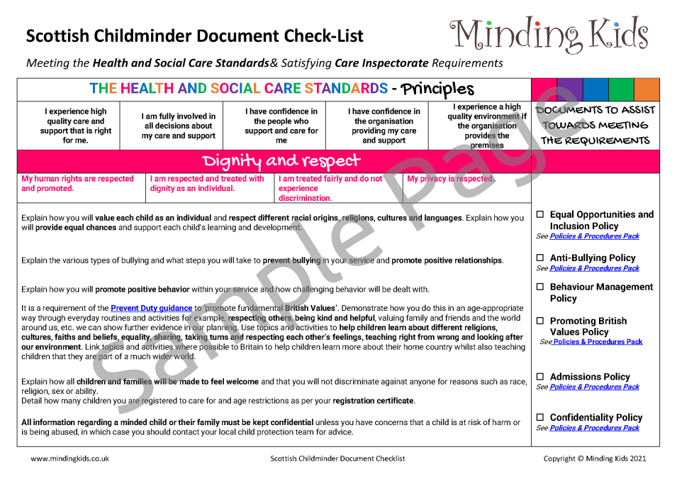 Scottish Childminder Checklist Image 1