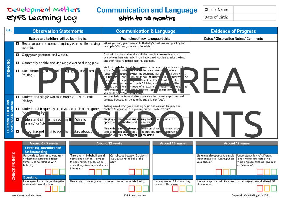Prime Area Checkpoints