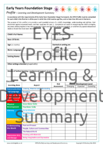 EYFS 2021 (Profile)