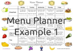 Menu Planner Example